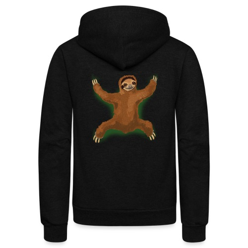Sloth Love Hug - Green - Unisex Fleece Zip Hoodie