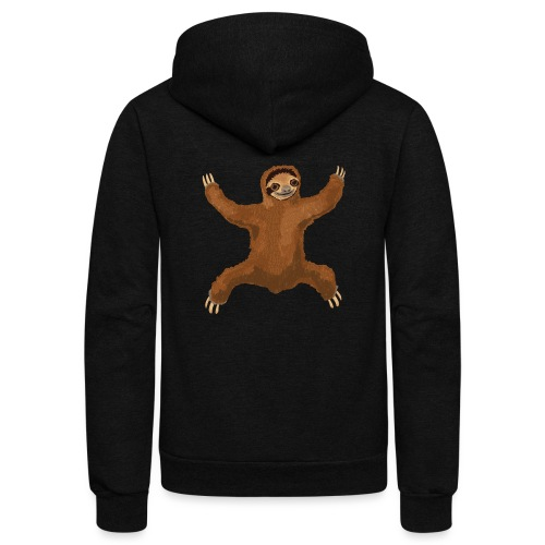 Sloth Love Hug - Unisex Fleece Zip Hoodie