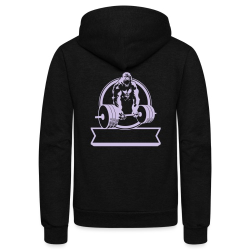 Gorilla Beast - YOUR NAME - Unisex Fleece Zip Hoodie