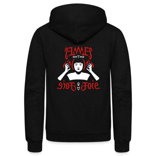 Flames on the Sides of my Face - Unisex Fleece Zip Hoodie