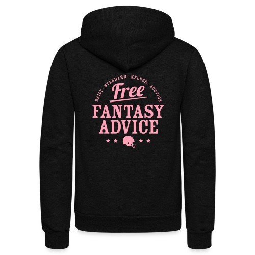 Free Fantasy Football Advice - Unisex Fleece Zip Hoodie