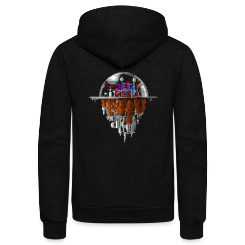 Sky city - Unisex Fleece Zip Hoodie
