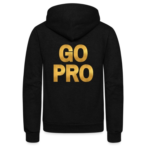 GO PRO - Gold Foil Look - Unisex Fleece Zip Hoodie