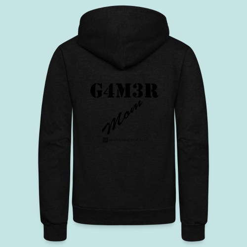 Gamer Mom (black) - Unisex Fleece Zip Hoodie