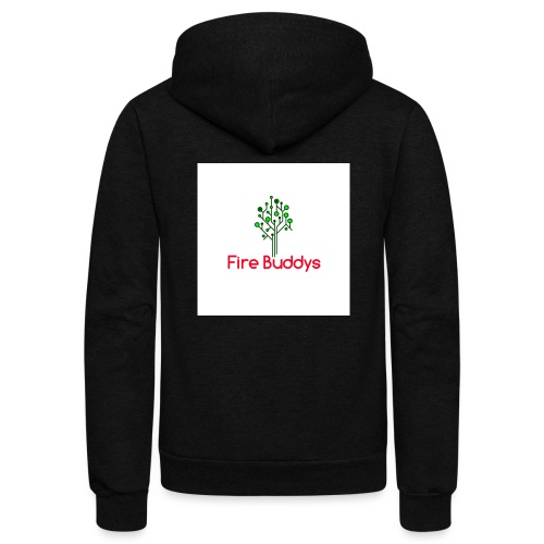 Fire Buddys Website Logo White Tee-shirt eco - Unisex Fleece Zip Hoodie