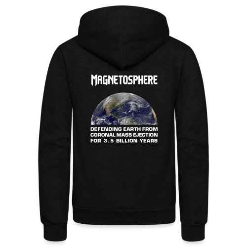 Magnetosphere Defending from Coronal Mass Ejection - Unisex Fleece Zip Hoodie