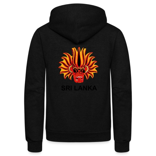 Sri Lanka Mask - Unisex Fleece Zip Hoodie