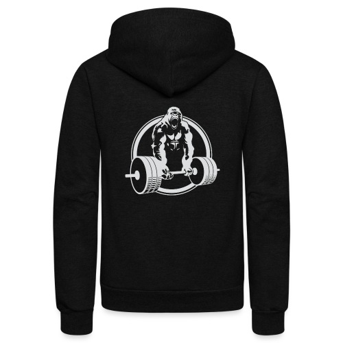 Gorilla Lifting Gym Fit - Unisex Fleece Zip Hoodie