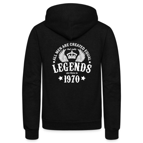Only Legends are Born in 1970 - Unisex Fleece Zip Hoodie