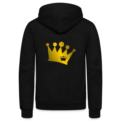 Double Crown gold - Unisex Fleece Zip Hoodie