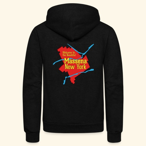 Massena NY Red - Unisex Fleece Zip Hoodie