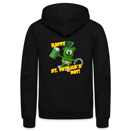 Gummibär (The Gummy Bear) Saint Patrick's Day - Unisex Fleece Zip Hoodie