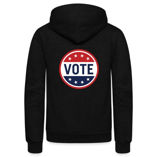 Vote Red, White and Blue with Stars - Unisex Fleece Zip Hoodie