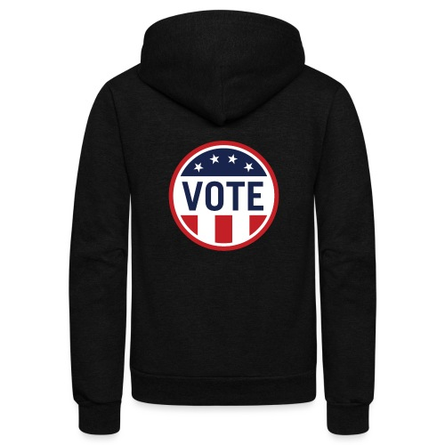 Vote Red White and Blue Stars and Stripes - Unisex Fleece Zip Hoodie
