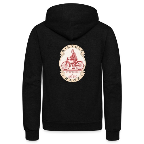 Vintage Bicycle Racer - Unisex Fleece Zip Hoodie