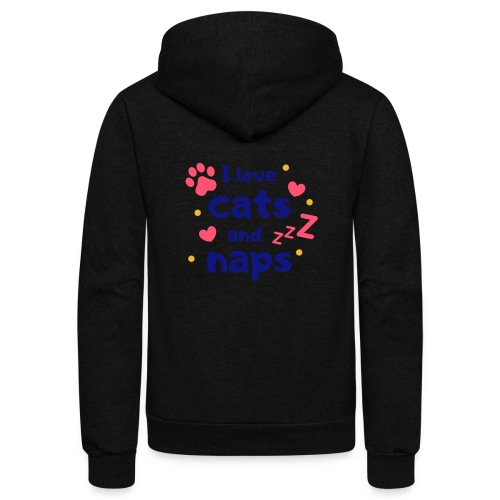 I love cats and naps - Unisex Fleece Zip Hoodie