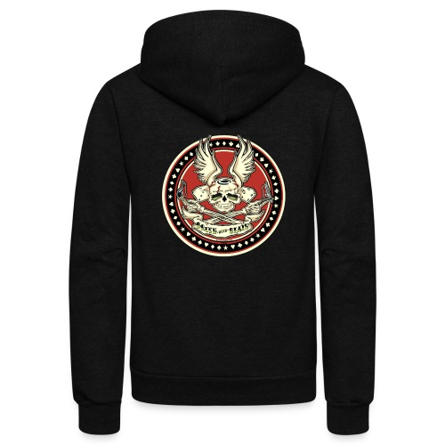 Brush With Death - Unisex Fleece Zip Hoodie