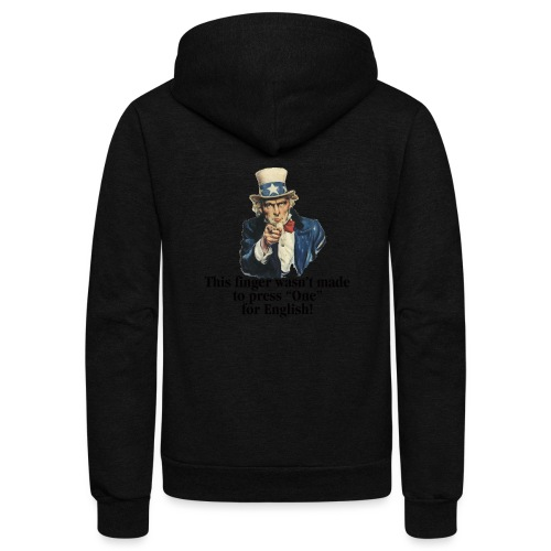 Uncle Sam - Finger - Unisex Fleece Zip Hoodie
