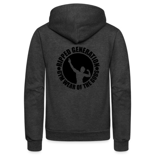 Ripped Generation Gym Wear of the Gods Badge Logo - Unisex Fleece Zip Hoodie