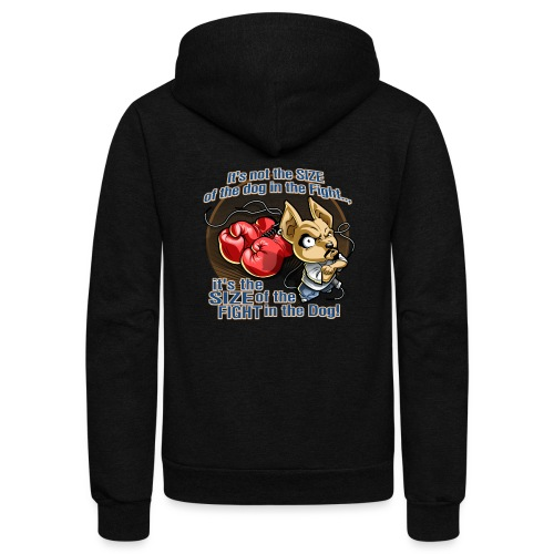 Dog in fight by RollinLow - Unisex Fleece Zip Hoodie