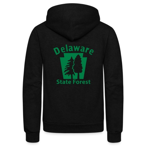 Delaware State Forest Keystone (w/trees) - Unisex Fleece Zip Hoodie