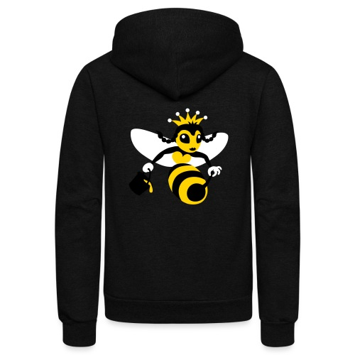 Queen Bee - Unisex Fleece Zip Hoodie