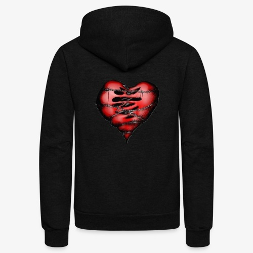 Chains Heart Ceramic Mug - Unisex Fleece Zip Hoodie