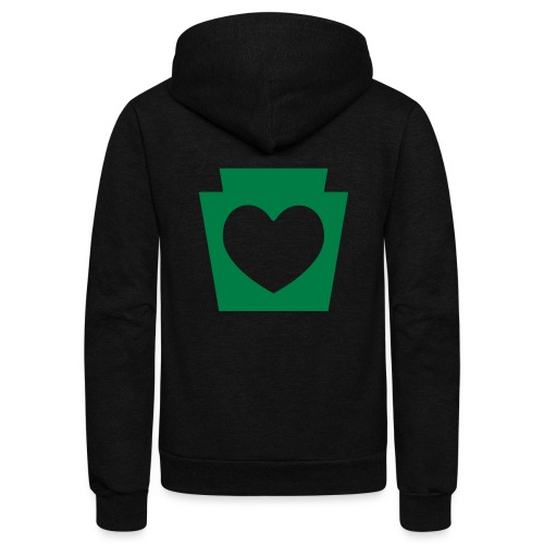 Love/Heart PA Keystone - Unisex Fleece Zip Hoodie