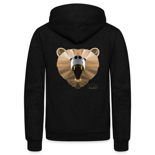 Hungry Bear Women's V-Neck T-Shirt - Unisex Fleece Zip Hoodie