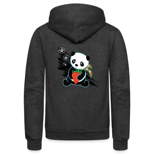Cute Kawaii Panda T-shirt by Banzai Chicks - Unisex Fleece Zip Hoodie