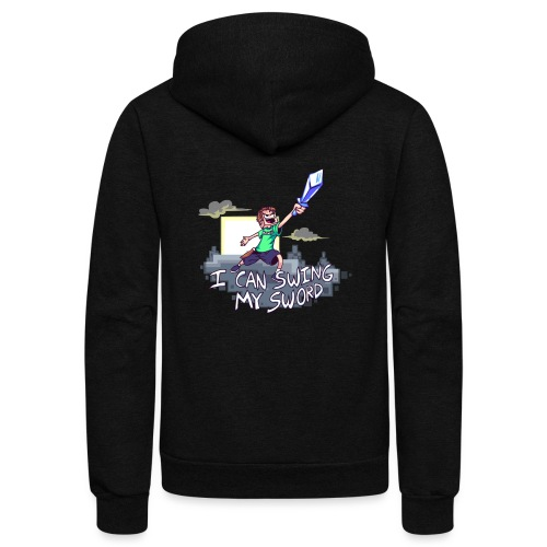 I Can Swing My Sword - Unisex Fleece Zip Hoodie