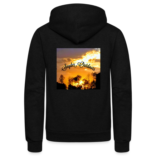 Sunset SnyderOutdoors - Unisex Fleece Zip Hoodie