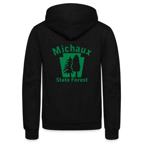 Michaux State Forest Keystone (w/trees) - Unisex Fleece Zip Hoodie