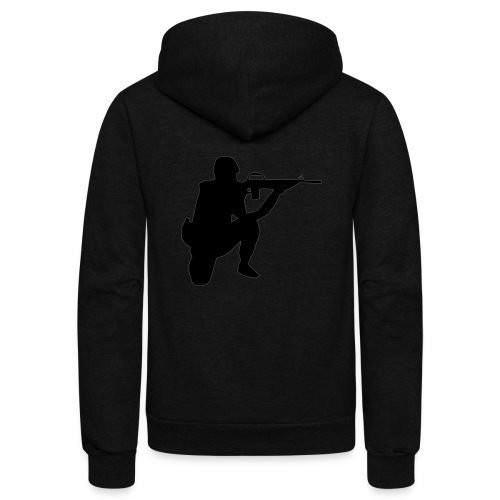 Infantry at ready for action. - Unisex Fleece Zip Hoodie