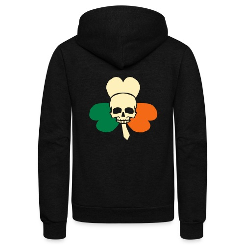 irish_skull_shamrock - Unisex Fleece Zip Hoodie