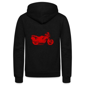motorcycle - Unisex Fleece Zip Hoodie