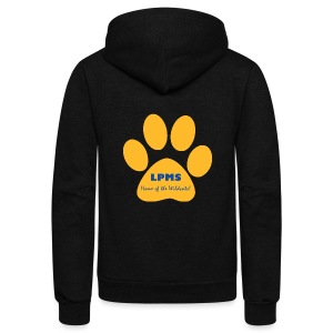 LPMS Logo - Unisex Fleece Zip Hoodie by American Apparel