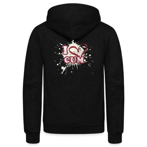 I Heart Cum (Splatter) - Unisex Fleece Zip Hoodie