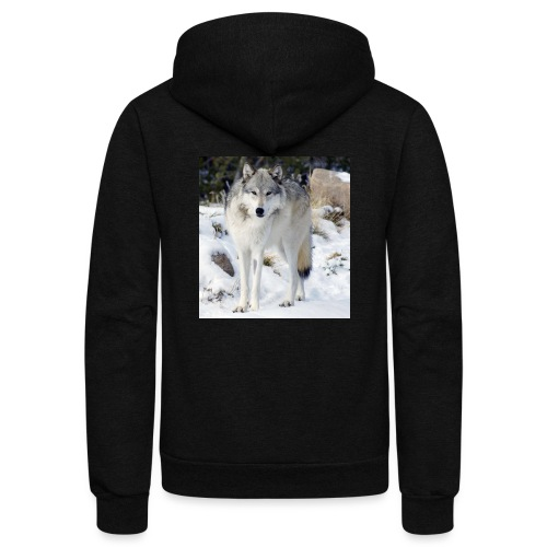 Canis lupus occidentalis - Unisex Fleece Zip Hoodie