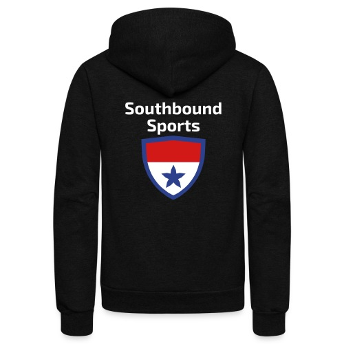 The Southbound Sports Shield Logo. - Unisex Fleece Zip Hoodie