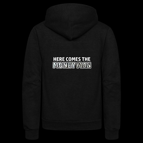 Here Comes The Money Man - Unisex Fleece Zip Hoodie