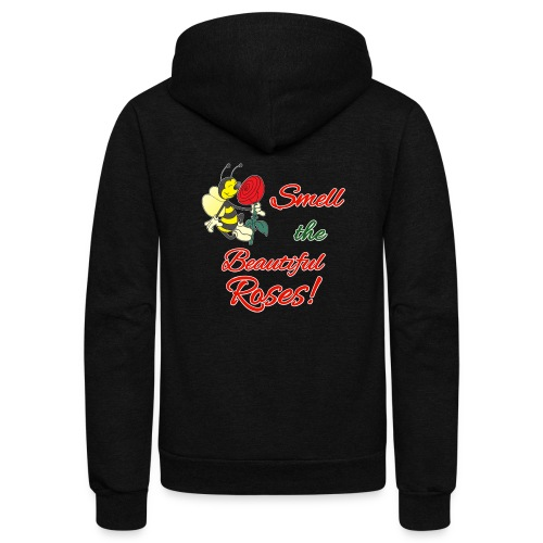 Beautiful Scented Roses - Unisex Fleece Zip Hoodie