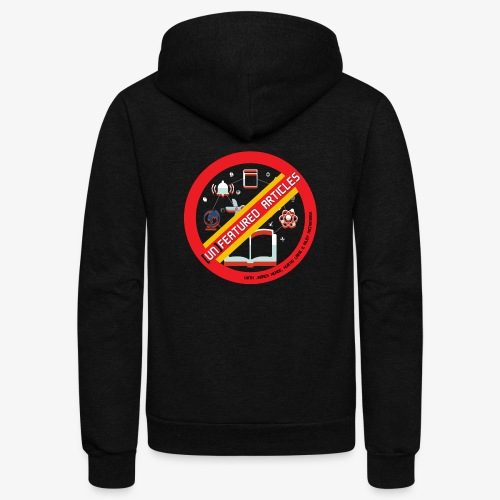 unFeatured Articles Logo - Unisex Fleece Zip Hoodie