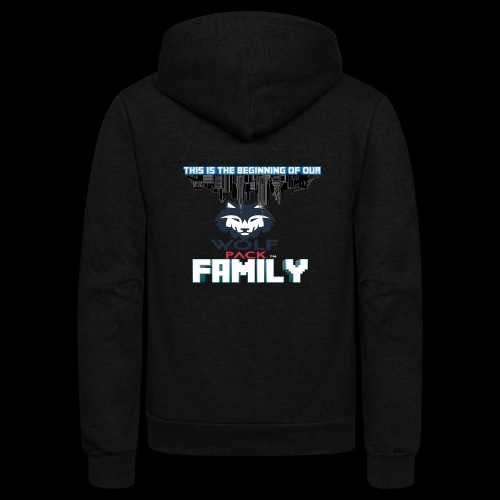 We Are Linked As One Big WolfPack Family - Unisex Fleece Zip Hoodie
