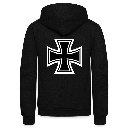 1200px German Cross svg - Unisex Fleece Zip Hoodie