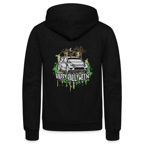 Rally Car Halloween - Unisex Fleece Zip Hoodie