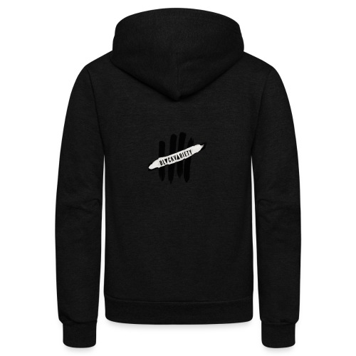 Official Black Variety Logo - Unisex Fleece Zip Hoodie