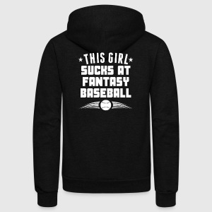 This Girl Sucks At Fantasy Baseball Funny - Unisex Fleece Zip Hoodie by American Apparel