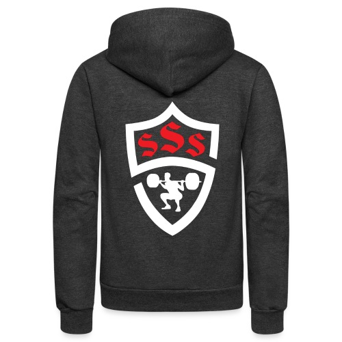 Logo Only White and Red - Unisex Fleece Zip Hoodie