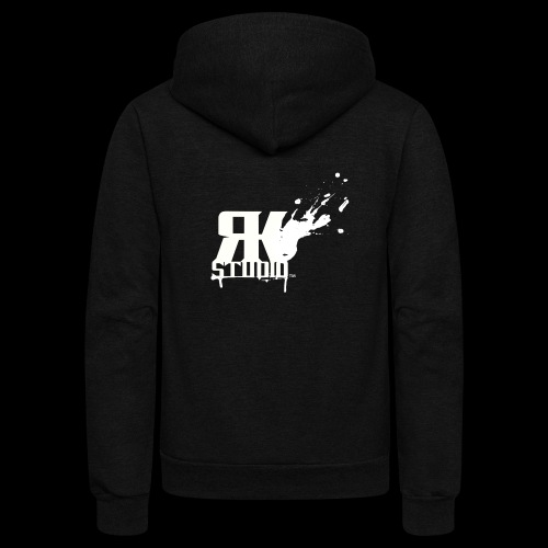 RKStudio White Logo Version - Unisex Fleece Zip Hoodie